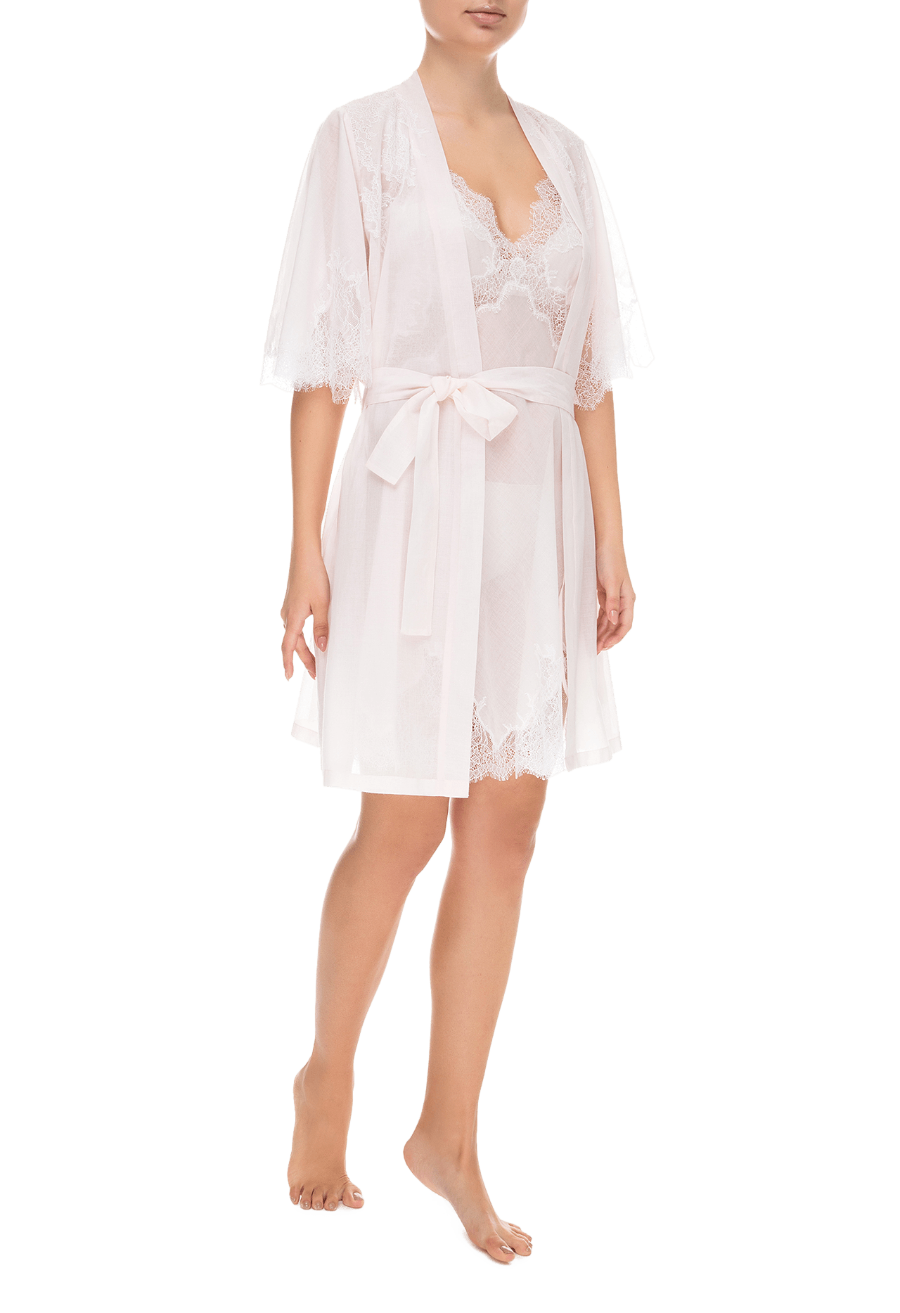 Халат Suavite lace-short-robe-slp85-19-p-virgin-w
