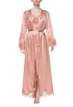 Халат длинный Suavite lace-long-robe-slp376-ex-b-anabel-w