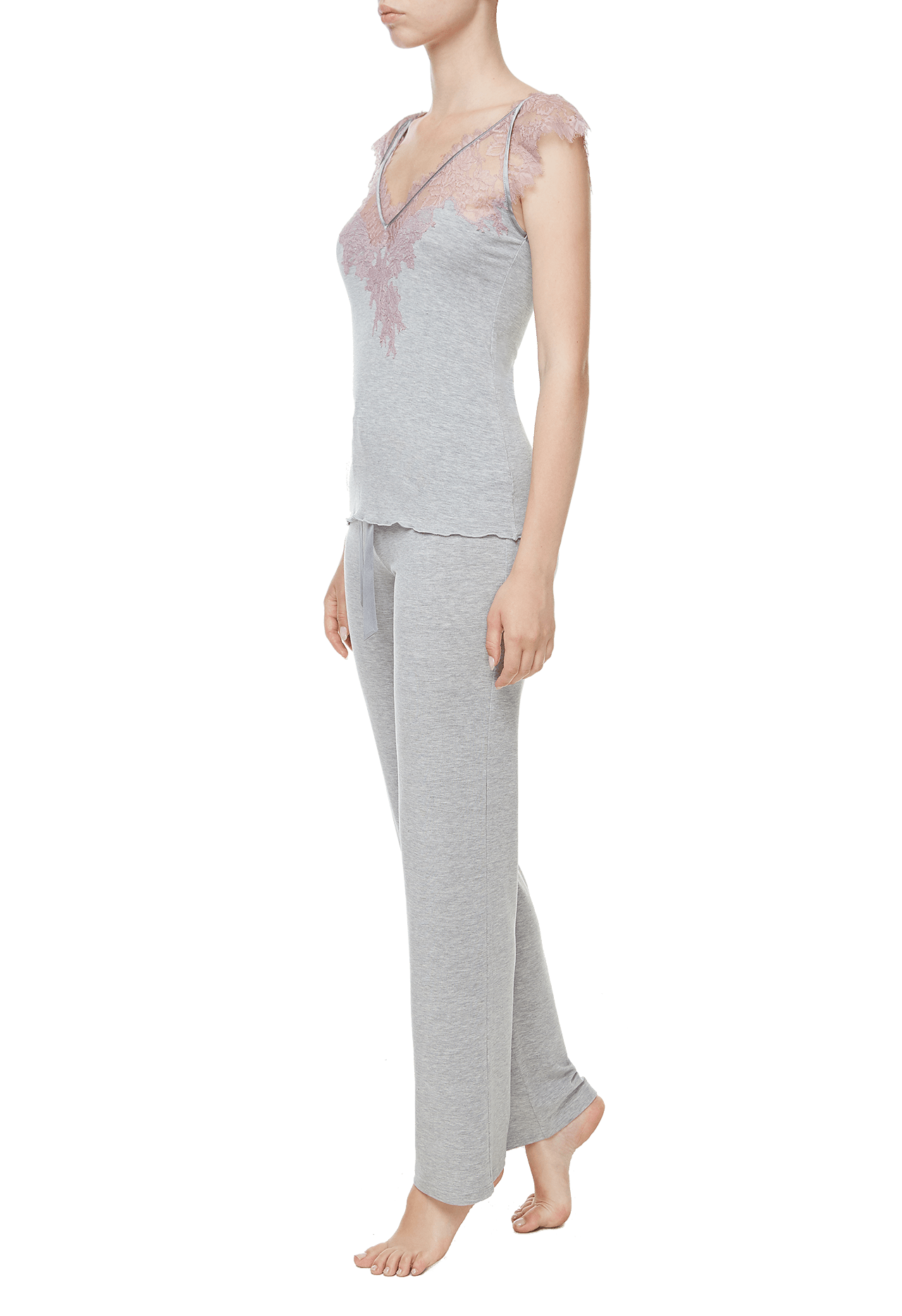 Пижама (топ, брюки) Suavite pajamas-long-set-slp41-19-g-deniz-w