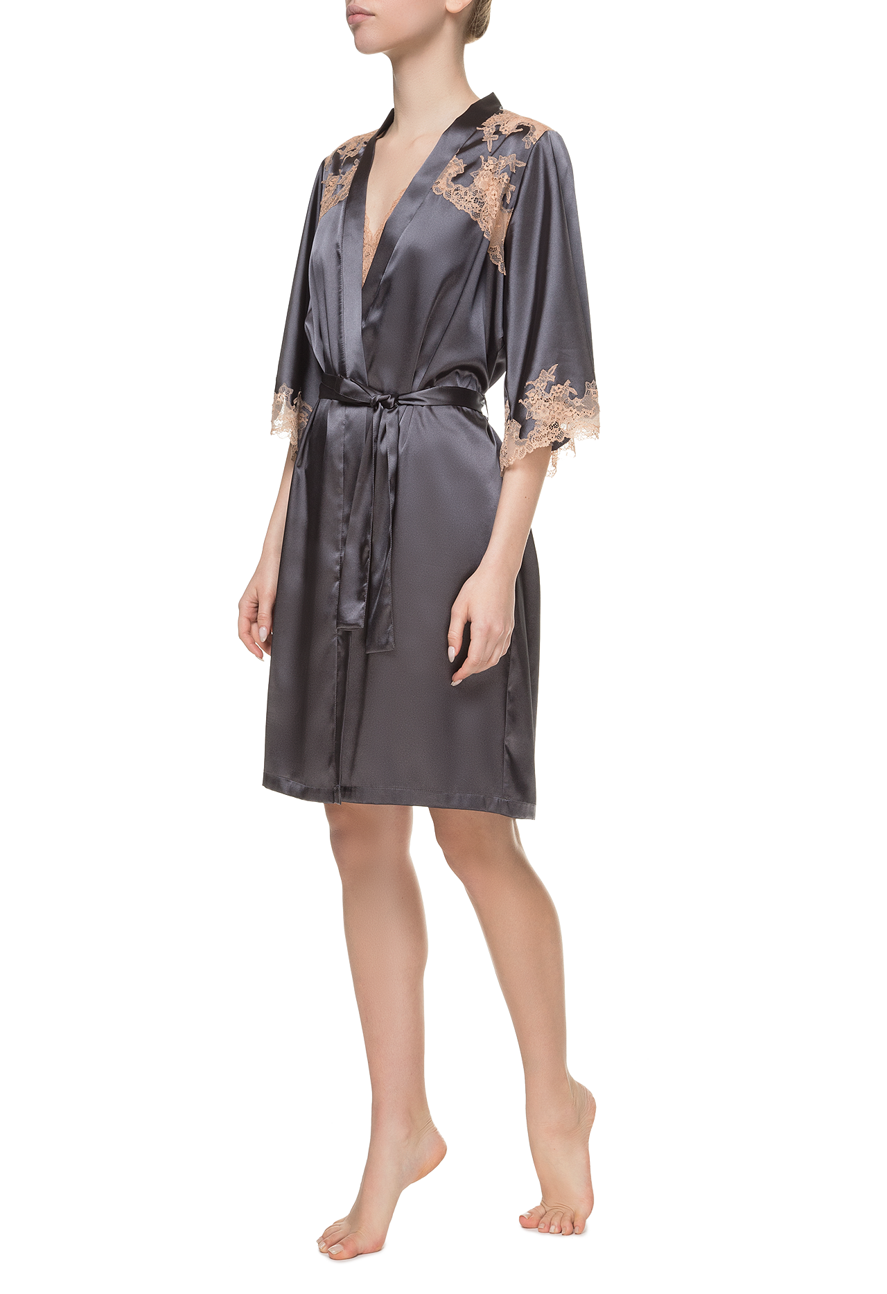 Короткий халат Suavite bathrobe-slp262-sv-g-louise-w-1