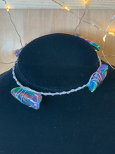 Load image into Gallery viewer, Rainbow Crystal Guitar String Bangle Bracelet