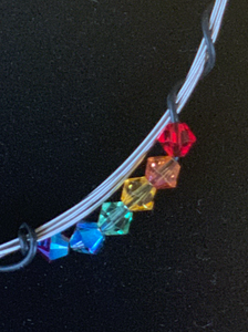 Rainbow Guitar String Bangle Bracelet