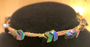 Rainbow Arrow Guitar String Bangle Bracelet