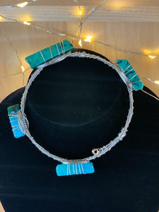 Turquoise Guitar String Bangle Bracelet