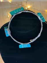 Load image into Gallery viewer, Turquoise Guitar String Bangle Bracelet