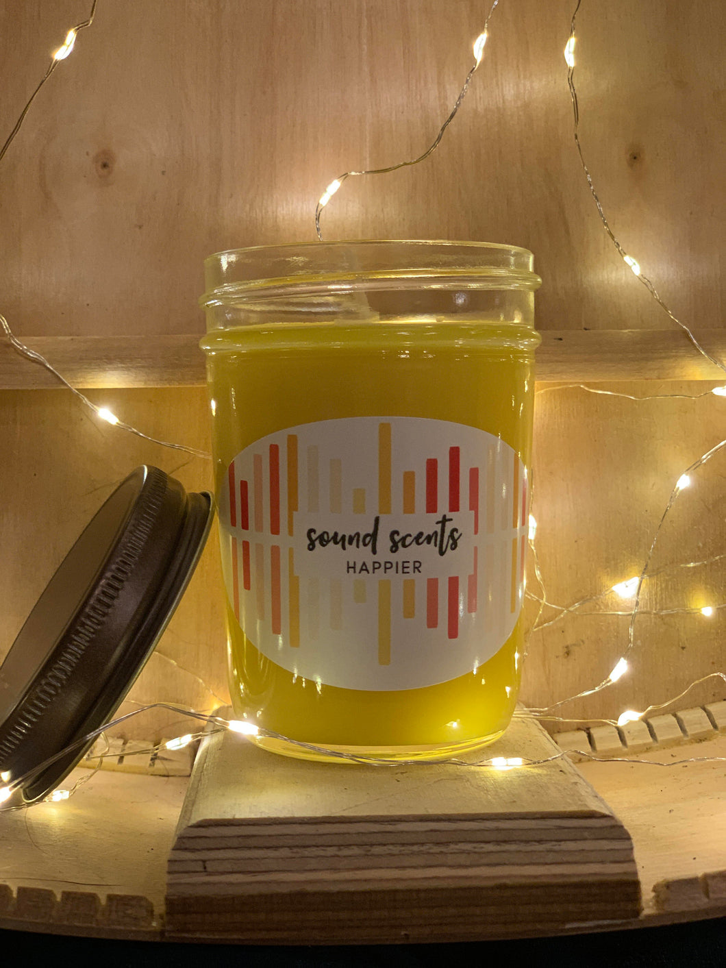 HAPPIER - 8oz 100% Soy Wax Candle