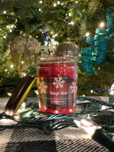 SLEIGH RIDE - 8 oz 100% Soy Wax Candle