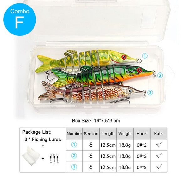 TREHOOK 5pcs 12.5cm 20g Pike Wobblers Set Of Lures For Fishing Crankbaits Swimbait Hard