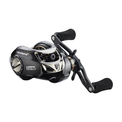 Fishdrops Fishing Reels Baitcasting Reel Left Hand Right Hand Full Carbon Fiber Body Dual Brake System Gear Ratio 7.2:1