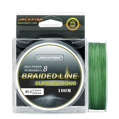 JACKFISH 100m 8 Strand Braided Fishing Line 10-80LB