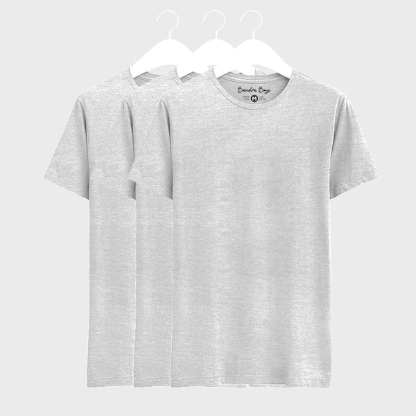 3 Combo Plain T-Shirts of Grey