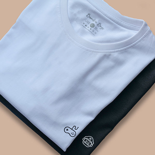 Signature -White Plain T-Shirts