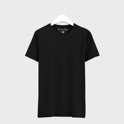 Black Plain T-Shirts