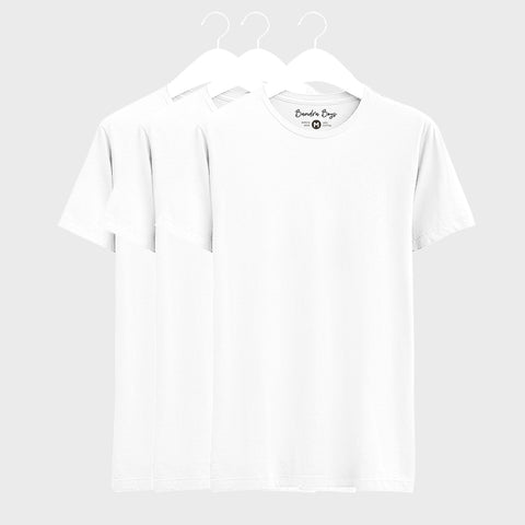 3 Combo Plain T-Shirts of White