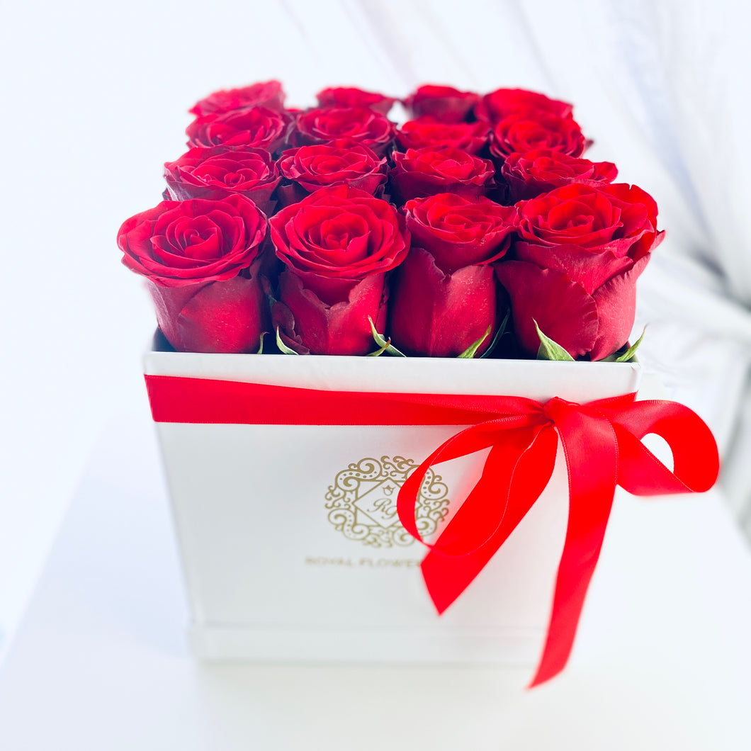 Red Velvet Rose Flower Box
