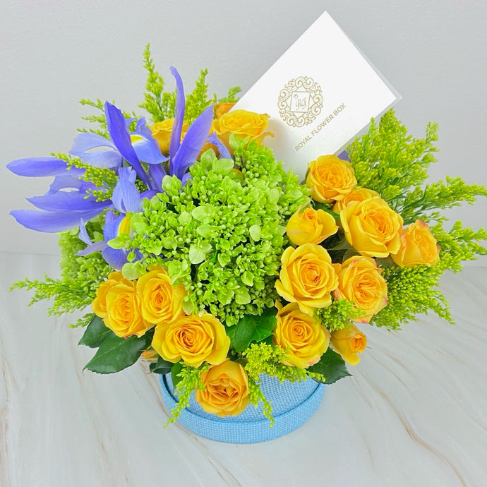 Yellow Rose Flower Box