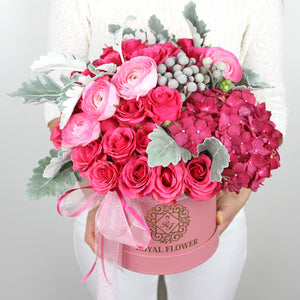Raspberry Romance Flower Arrangement