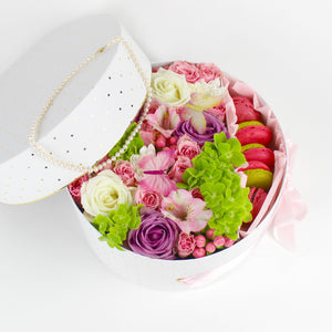 Garden Flower Box With Macarons