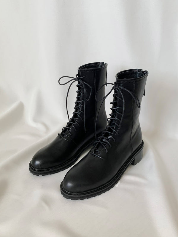 Laced Up Combat Boots