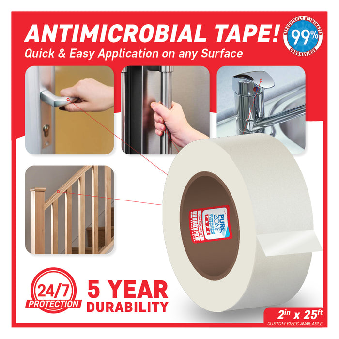 "PureZone® Antimicrobial Protection Tape/Strips 2"" x 25ft"