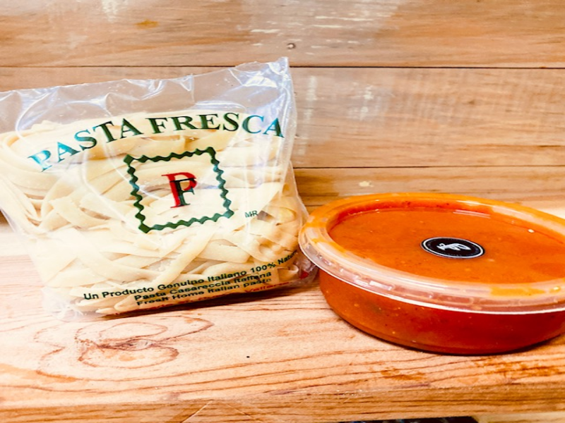 Fresh Pasta  with tomato sauce from Pasta Fresca