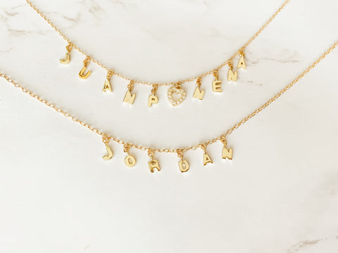 """Mini Gold Letter"" Necklace"