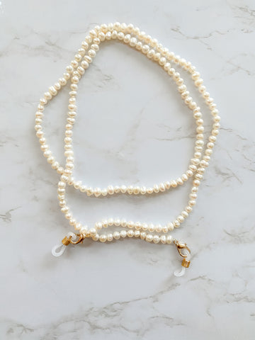 Mini Fresh Water Pearls Sunny Mask chain