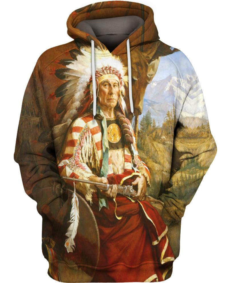 Native American Prairie Indian Chief