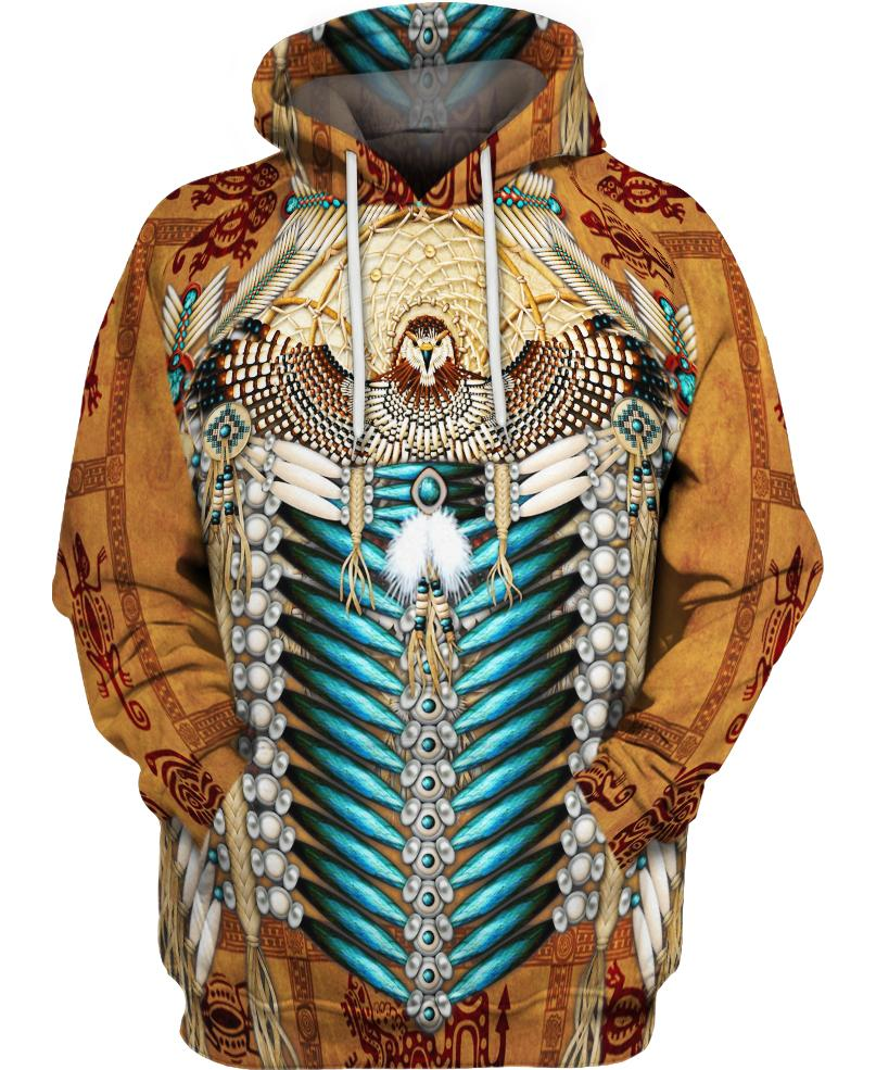 Native American Pattern Eagle Brown