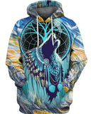 Native American Blue Wolf Dream