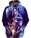 Native American Purple Girl Wolf