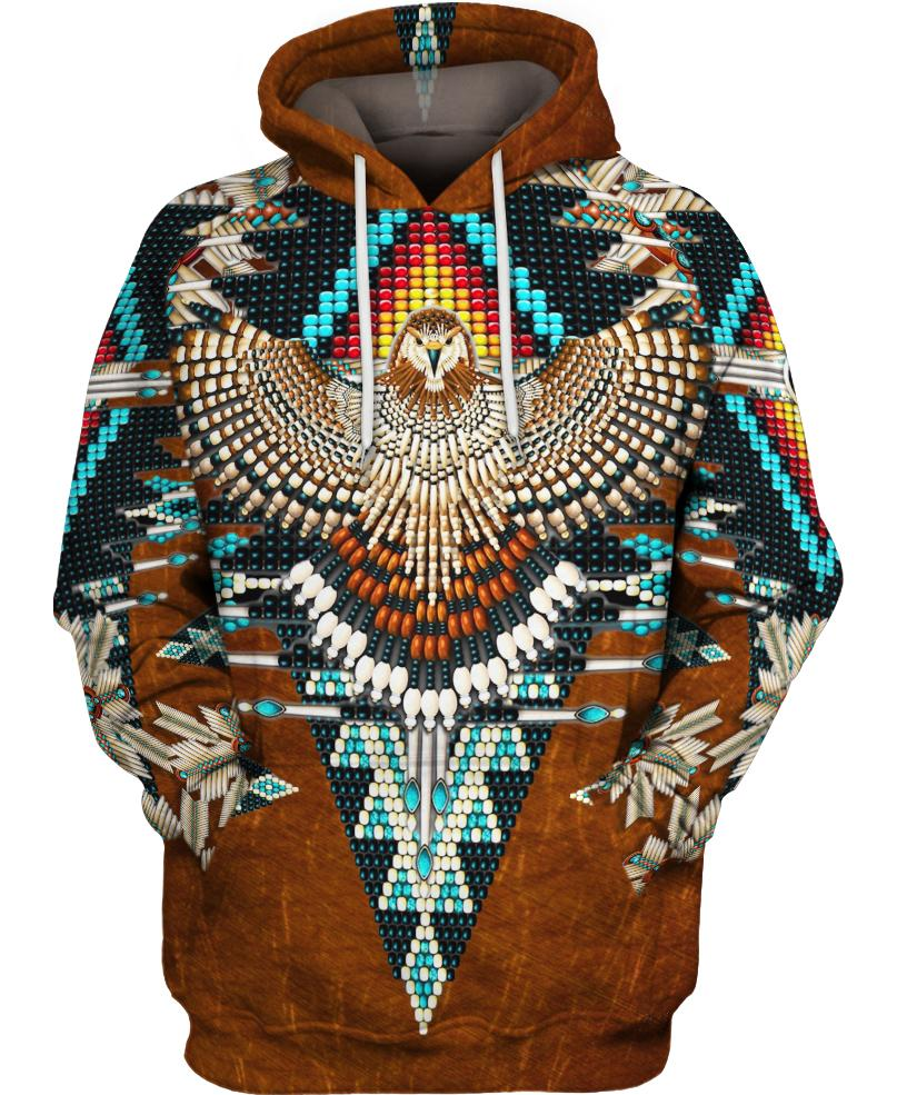 Native American Brown Eagle Pattern