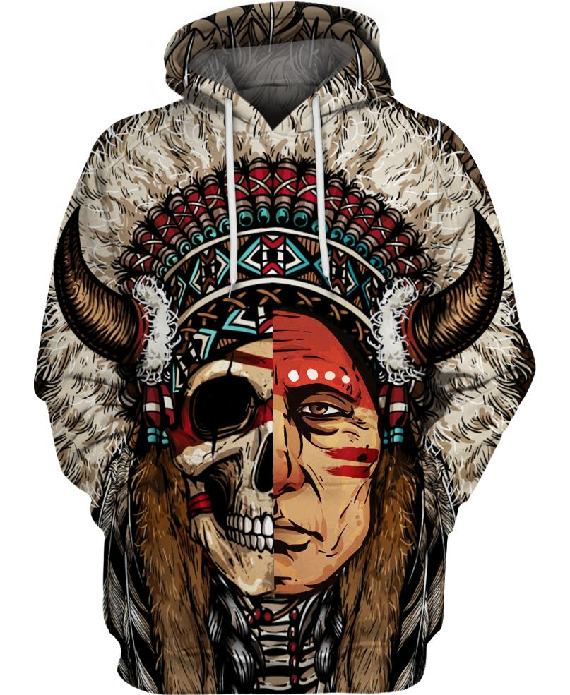 Native American Half-Face Indian Chief