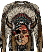 Load image into Gallery viewer, Native American Half-Face Indian Chief