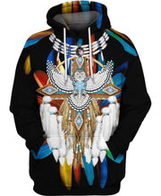 Load image into Gallery viewer, Native American Feather Backgroud Eagle