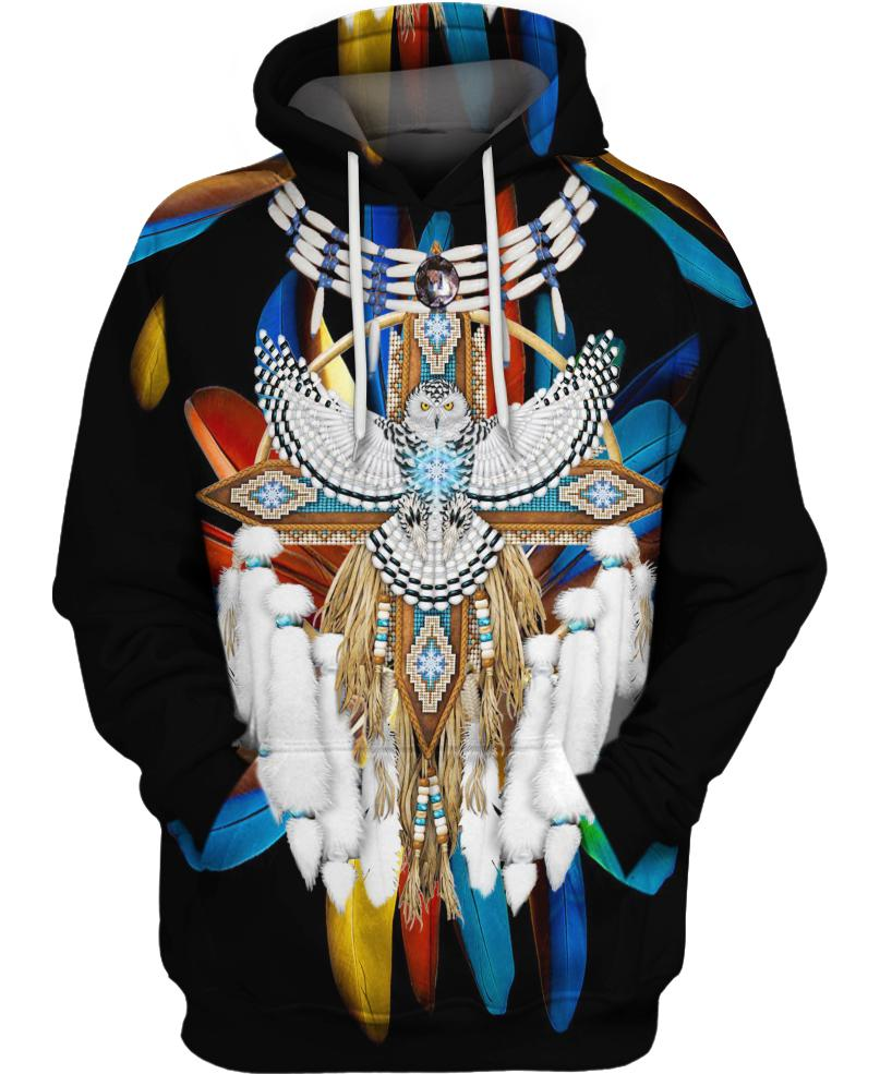 Native American Feather Backgroud Eagle