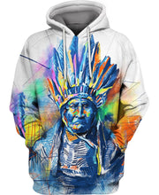Load image into Gallery viewer, Native American Indian Chief Colourful Painting