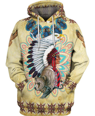 Native American Indian Wolf Eagle