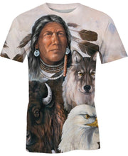 Load image into Gallery viewer, Native American Indian Chief & Animals