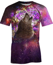 Load image into Gallery viewer, Native American Galaxy Purple Wolf Dream