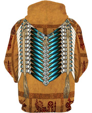 Load image into Gallery viewer, Native American Pattern Eagle Brown