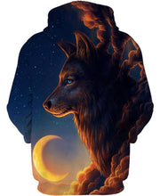 Load image into Gallery viewer, Native American Wolf Middle-night