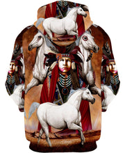 Load image into Gallery viewer, Native American Indian Chief And White Horses
