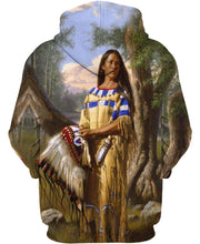 Load image into Gallery viewer, Native American Indian Chief Woman With Hat