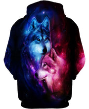 Load image into Gallery viewer, Native American Galaxy Couple Wolves