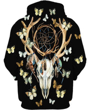 Load image into Gallery viewer, Native American Deer Skull Butterfly