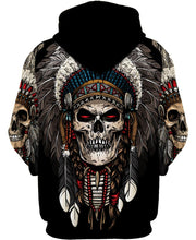 Load image into Gallery viewer, Native American Skull Feathers