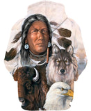 Native American Indian Chief & Animals