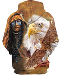 Native American Brown Indian Chief & Eagle