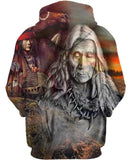 Native American Gray Old Indian Chief